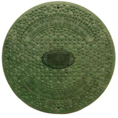 18 in. Green Septic Tank Riser Cover