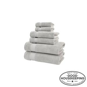 Egyptian Cotton 6-Piece Towel Set in Shadow Gray