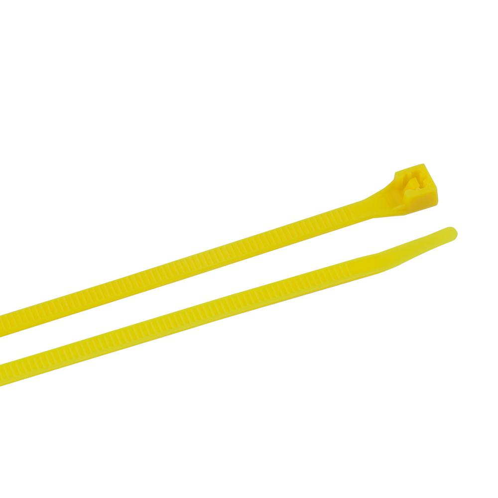 8 in. Cable Tie Fluorescent Yellow 75 lb. 20-Pack (Case of