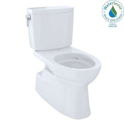 Vespin II 2-Piece 1.0 GPF Single Flush Elongated Toilet with CeFiONtect in Cotton White