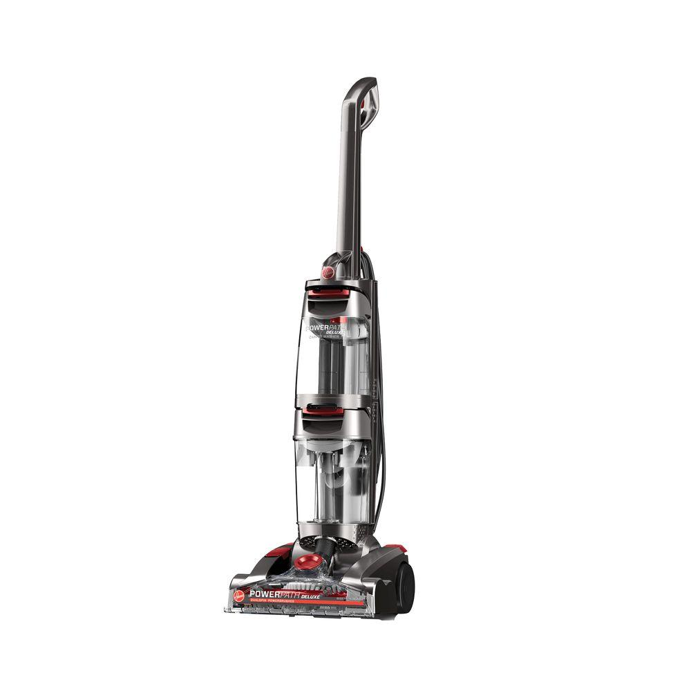 hoover power path deluxe upright carpet cleaner fh50951 the home depot. Black Bedroom Furniture Sets. Home Design Ideas