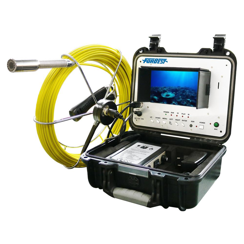 FORBEST Portable 130 ft. Color Sewer/Drain/Pipe Inspection Camera