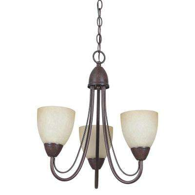 Fiscus 3-Light Oil-Rubbed Bronze Chandelier