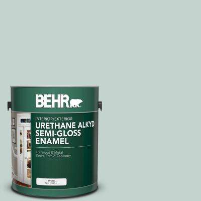 1 gal. #N430-2 Nature's Reflection Urethane Alkyd Semi-Gloss Enamel Interior/Exterior Paint