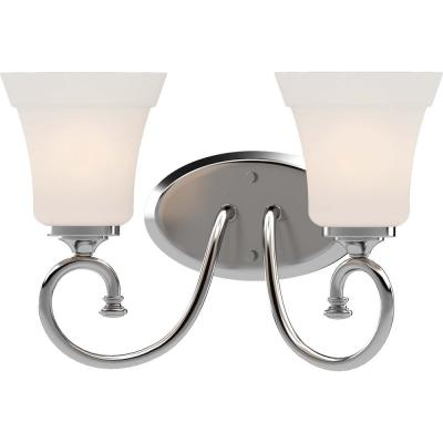Tes 8.75 in. Chrome Sconce