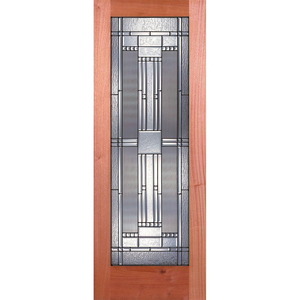 Feather River Doors 32 In X 80 In 1 Lite Unfinished Mahogany Preston Patina Woodgrain Interior
