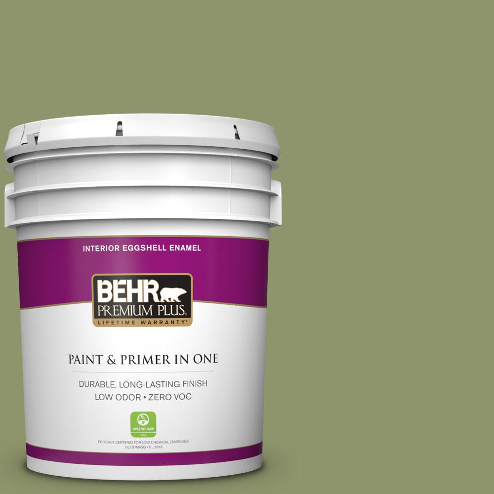 5 gal. #410F-5 Boston Fern Zero VOC Eggshell Enamel Interior Paint