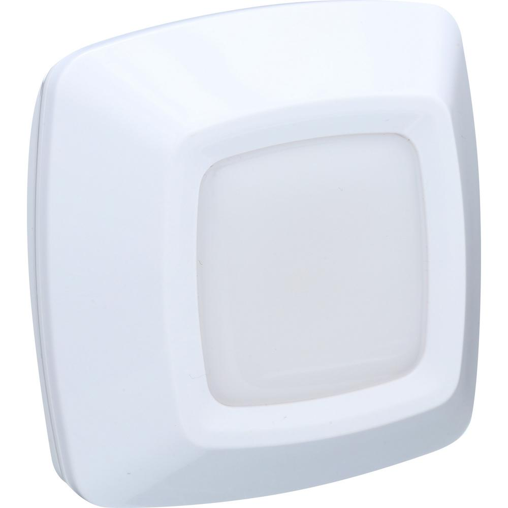Westek 5 In. LED White Puck Light (2-Pack)-LG3007W-N2