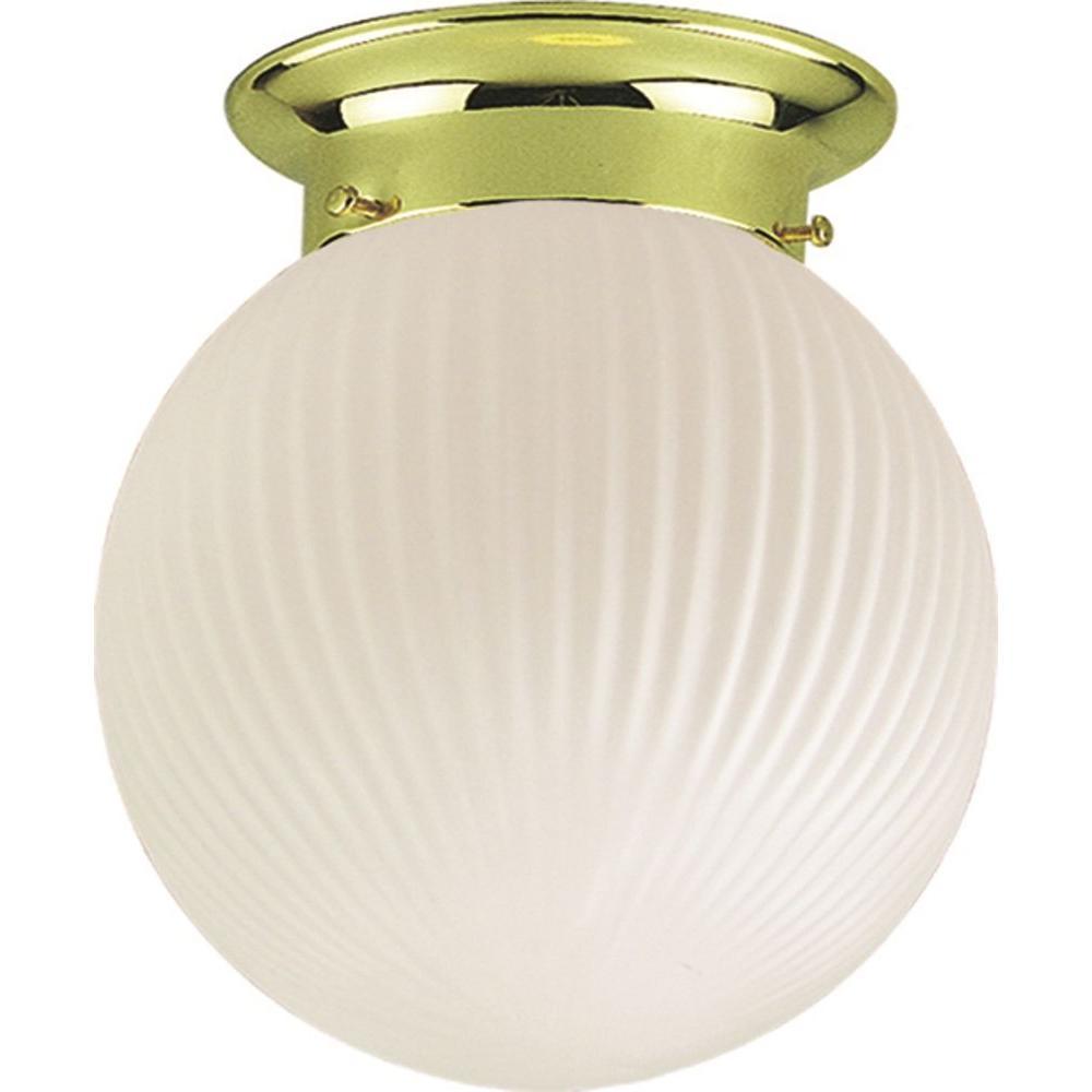 Roth 1-Light Polished Brass Flushmount