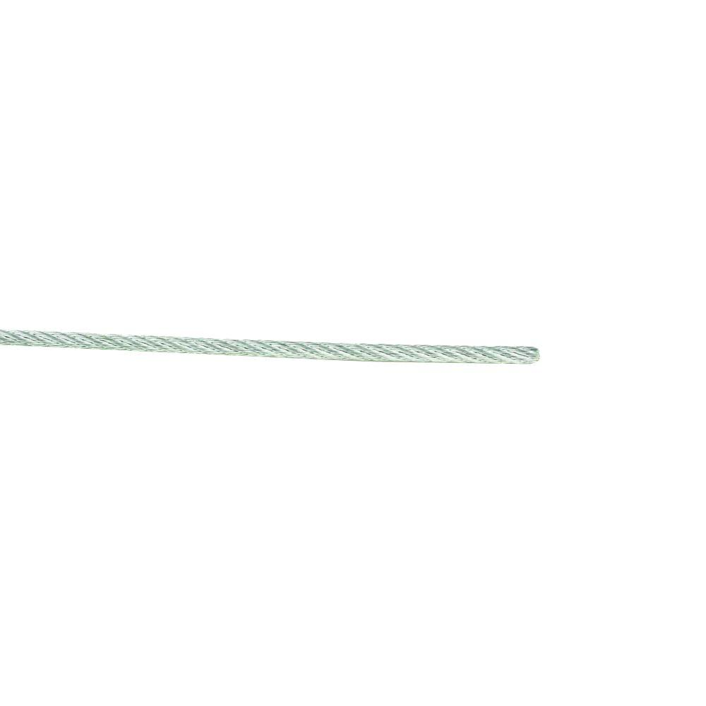 1/8 in. x 50 ft. Galvanized Uncoated Wire Rope