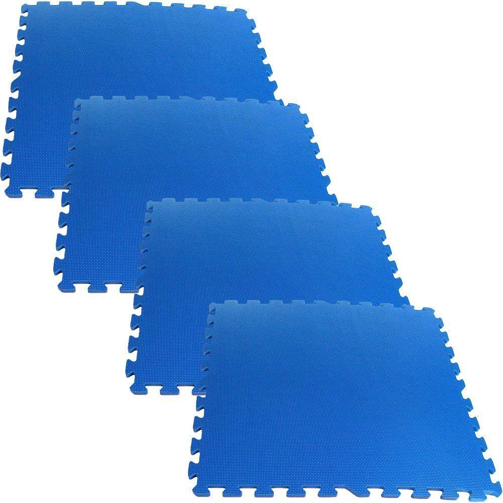Ultimate Comfort Blue 24 in. x 24 in. Foam Garage Floor