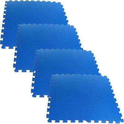 Ultimate Comfort Blue 24 in. x 24 in. Foam Garage Floor (4-Pack)