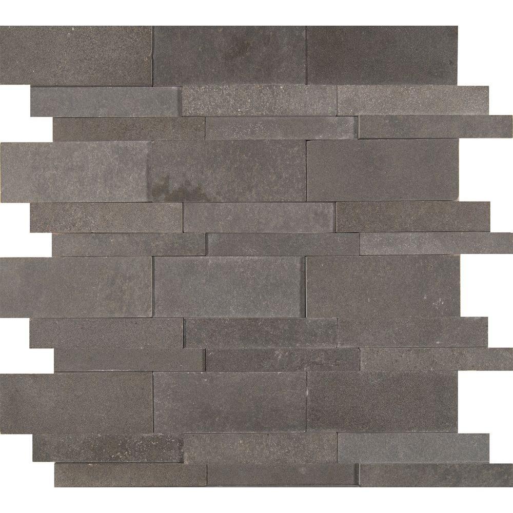 Ms International Neptune 12 In X 10 Mm Honed Basalt Mesh Mounted Mosaic Tile Sq Ft Case Bsltb H The Home Depot
