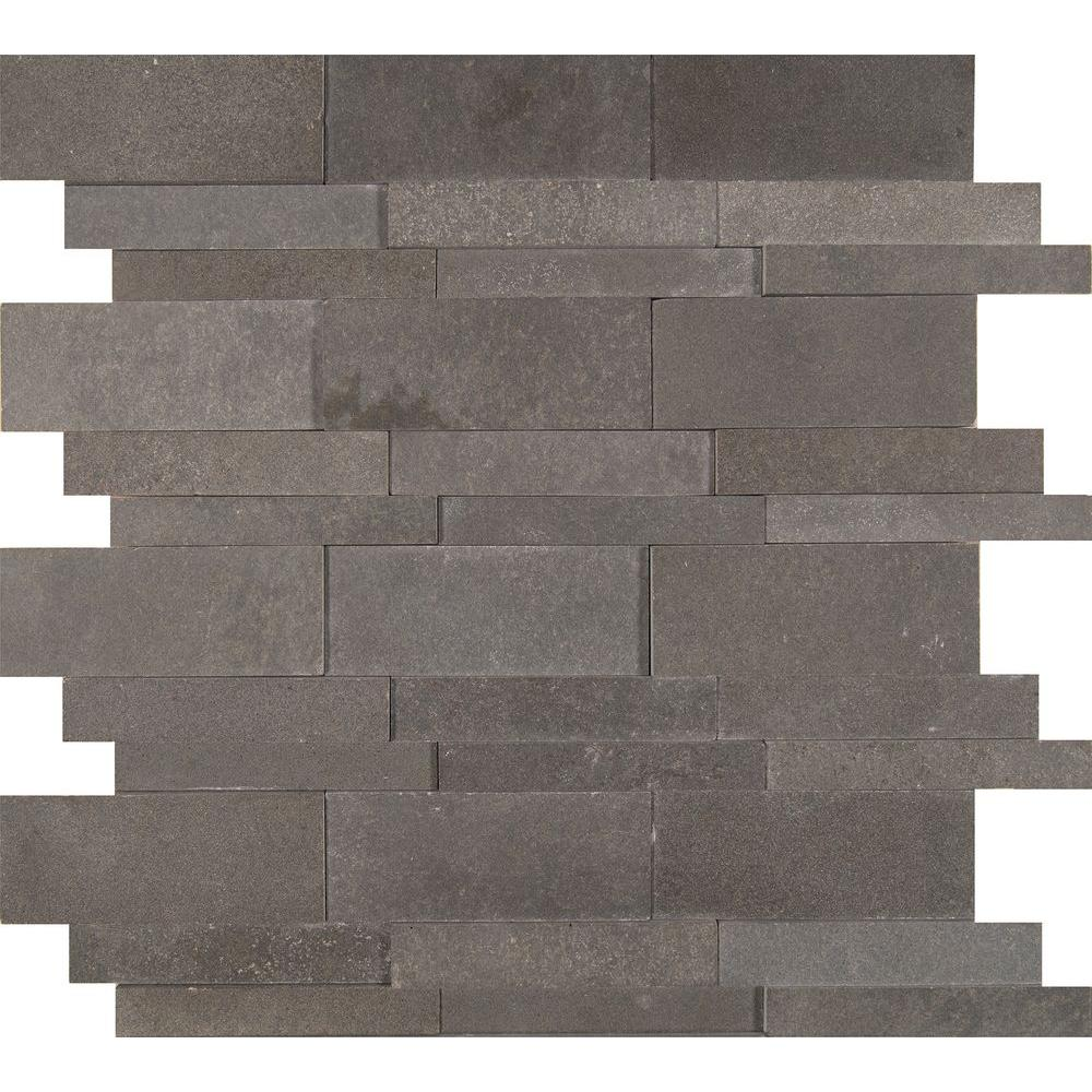Msi Neptune 12 In X 10 Mm Honed Basalt Mesh Mounted Mosaic Tile Sq Ft Case Bsltb H The Home Depot
