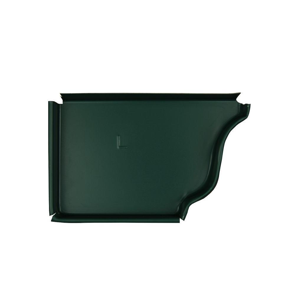 6 in. Grecian Green A Aluminum Left End Cap