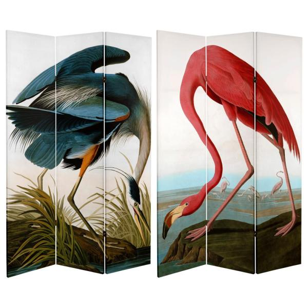 Oriental Furniture 6 ft. Printed 3-Panel Room Divider CAN-AUD1