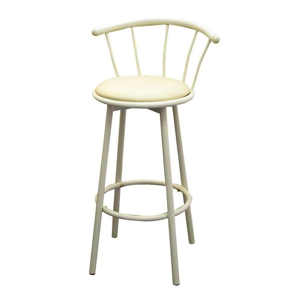 Home Decorators Collection 29 In Ivory Swivel Cushioned Bar Stool Set Of 2 R543 Iv The Home