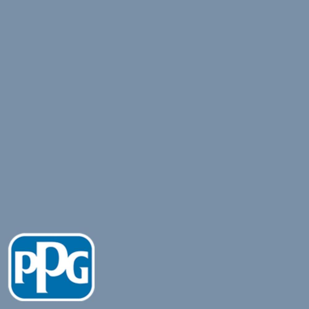 5 gal. #HDPPGV25 Florentine Blue Flat Exterior One-Coat Paint with Primer