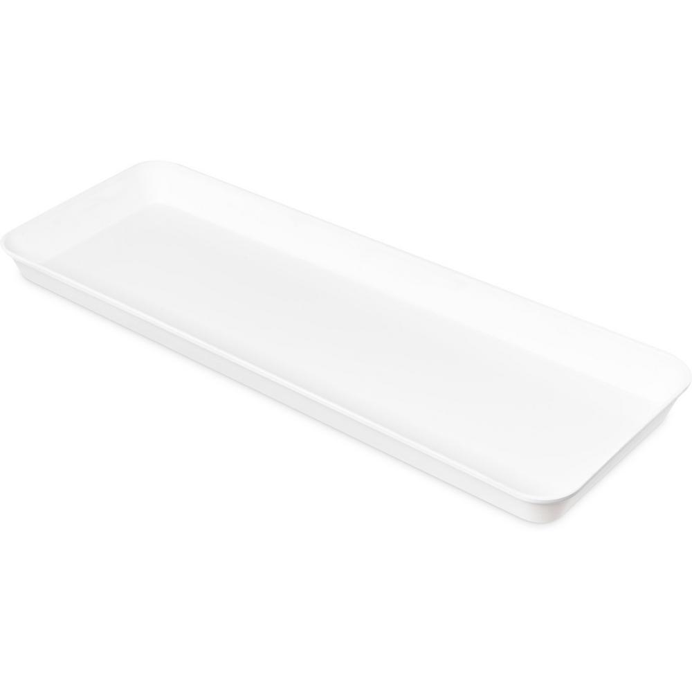 30 in. Pearl White Fiberglass Market Pan (12-Pack)