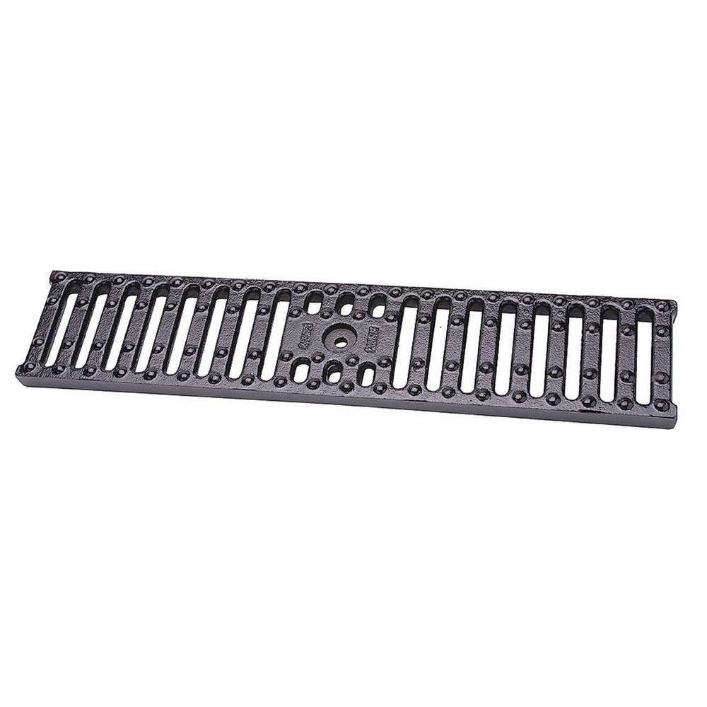 system cast slot grate back for iron trench com slotted floors product floor zurn drain drainagekits