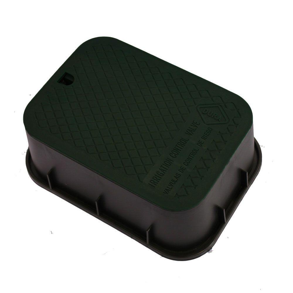 DURA 12 in. x 17 in. x 6 in. Extension Valve Box in Black Body Black Lid
