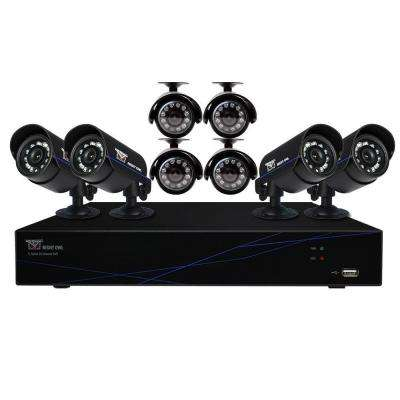16-Channel 960H Security System with 500GB HDD Surveillance DVR, 8 x 480 Hi-Resolution Cameras