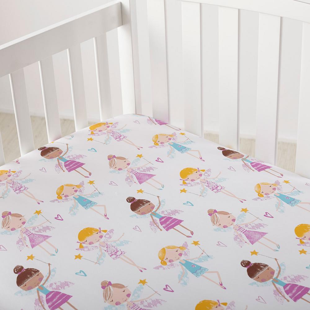 Good Fairies Cotton Percale Crib Sheet