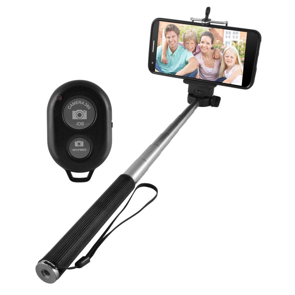 EMATIC Extendable Selfie Stick, Black