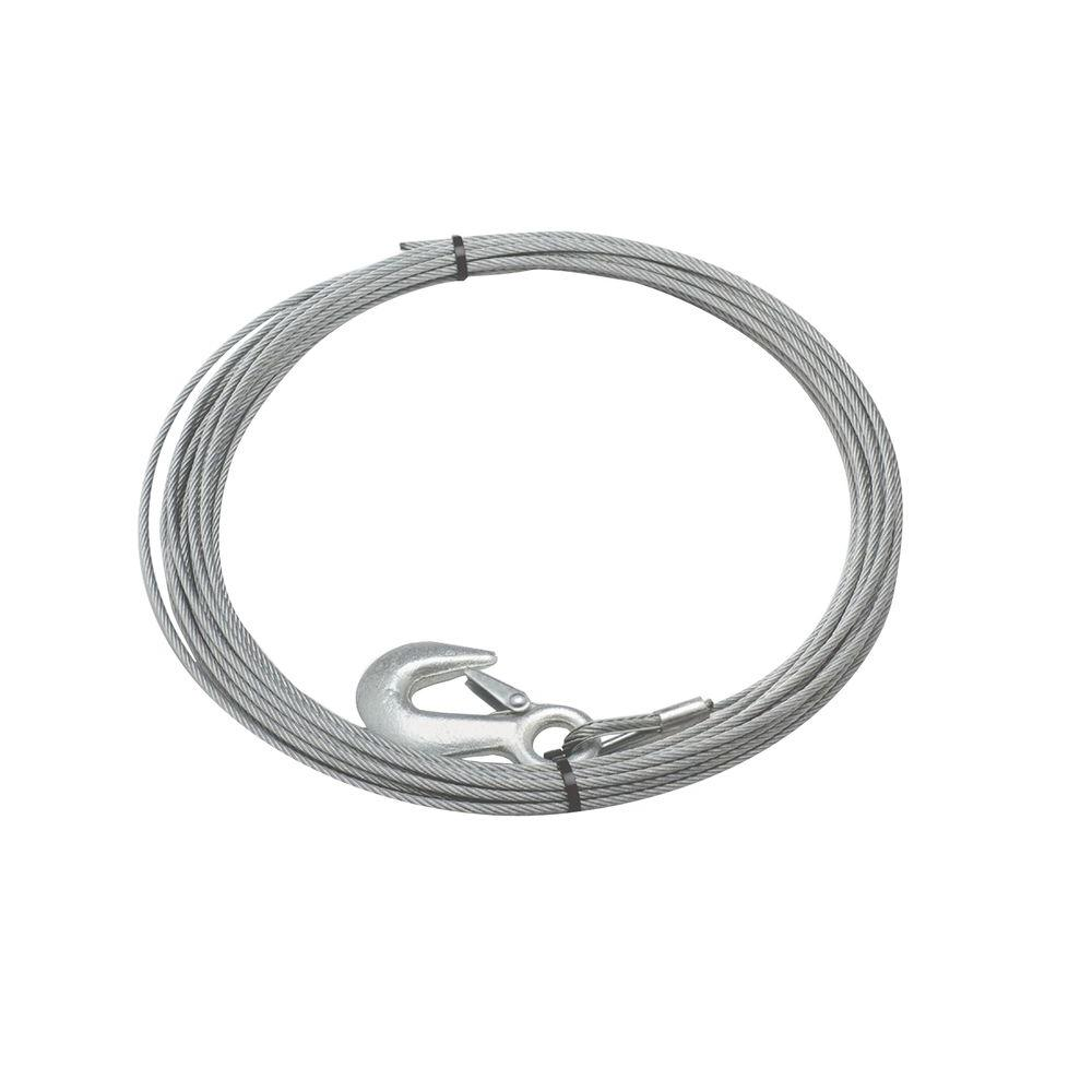 Superwinch 7/32 in. x 15 ft. Galvanized Steel Wire Rope with Hook