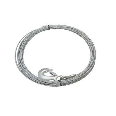 7/32 in. x 15 ft. Galvanized Steel Wire Rope with Hook
