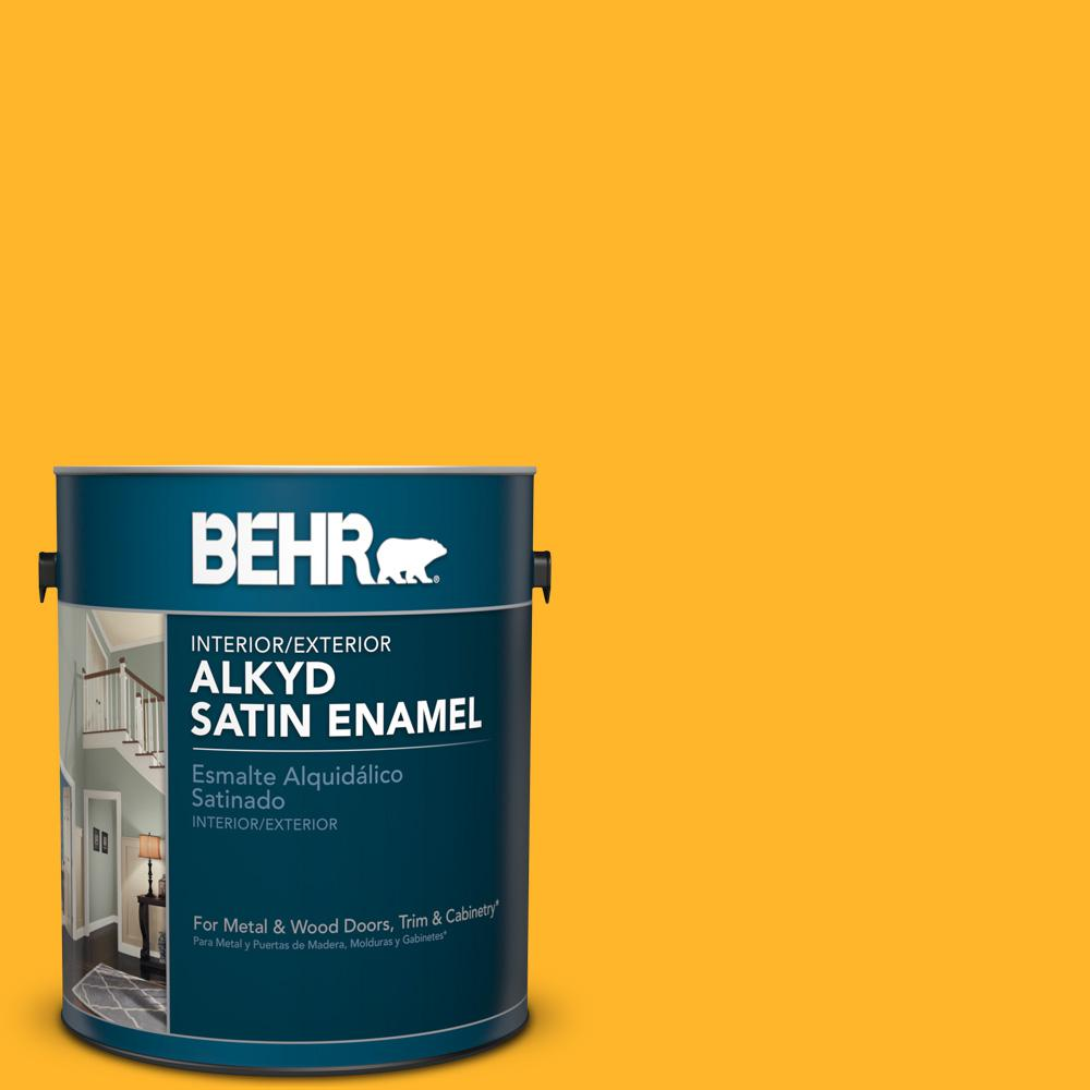 1 gal. #P260-7 Extreme Yellow Satin Enamel Alkyd Interior/Exterior Paint