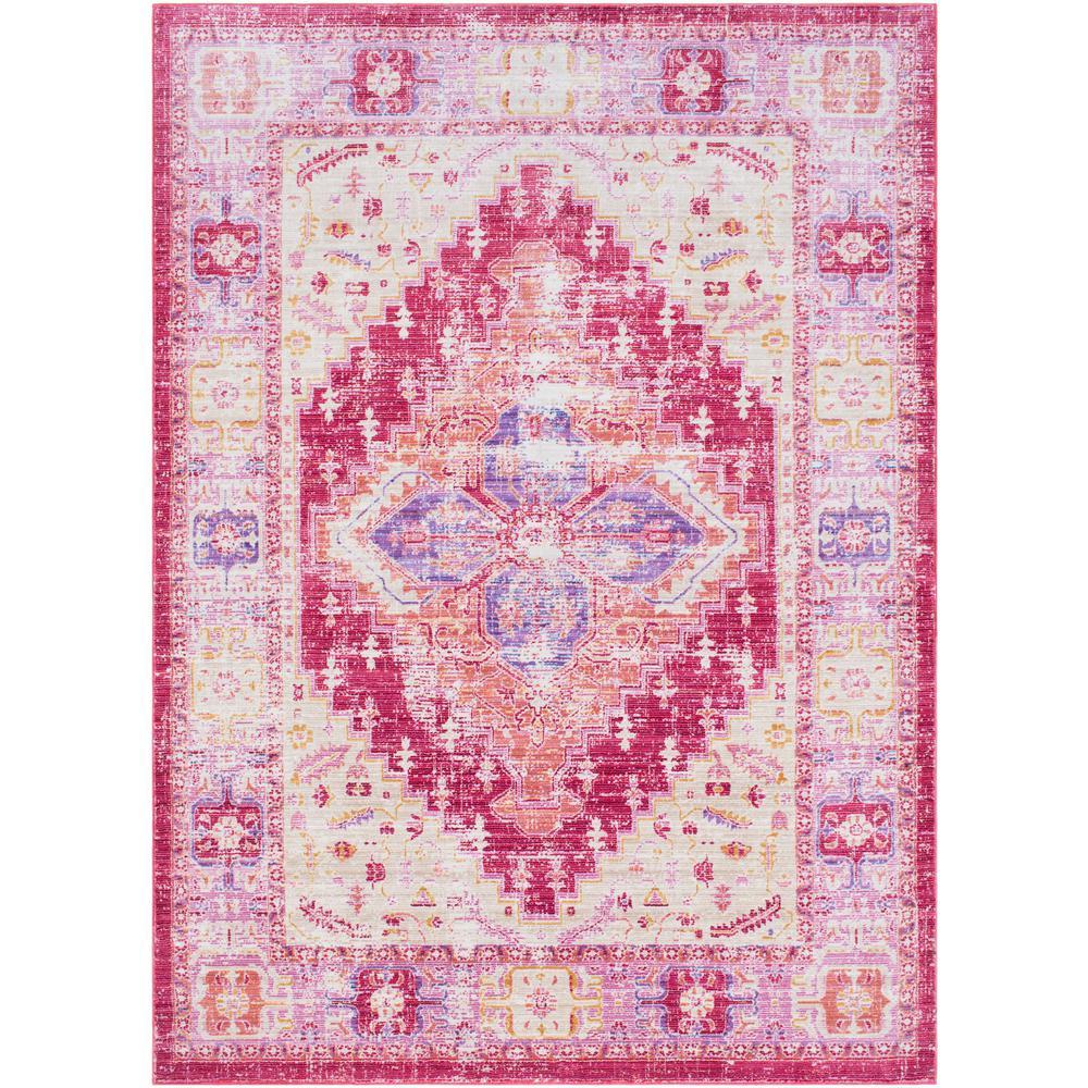 Surya Germili Bright Pink 2 ft. x 3 ft. Indoor Area Rug