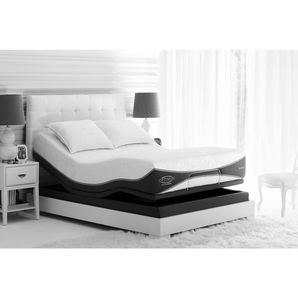 sealy posturepedic reflexion 4 adjustable california king size mattress bed frame 60966332 the. Black Bedroom Furniture Sets. Home Design Ideas