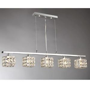 Sandra 5-Light Chrome Indoor Crystal Chandelier with Shade by