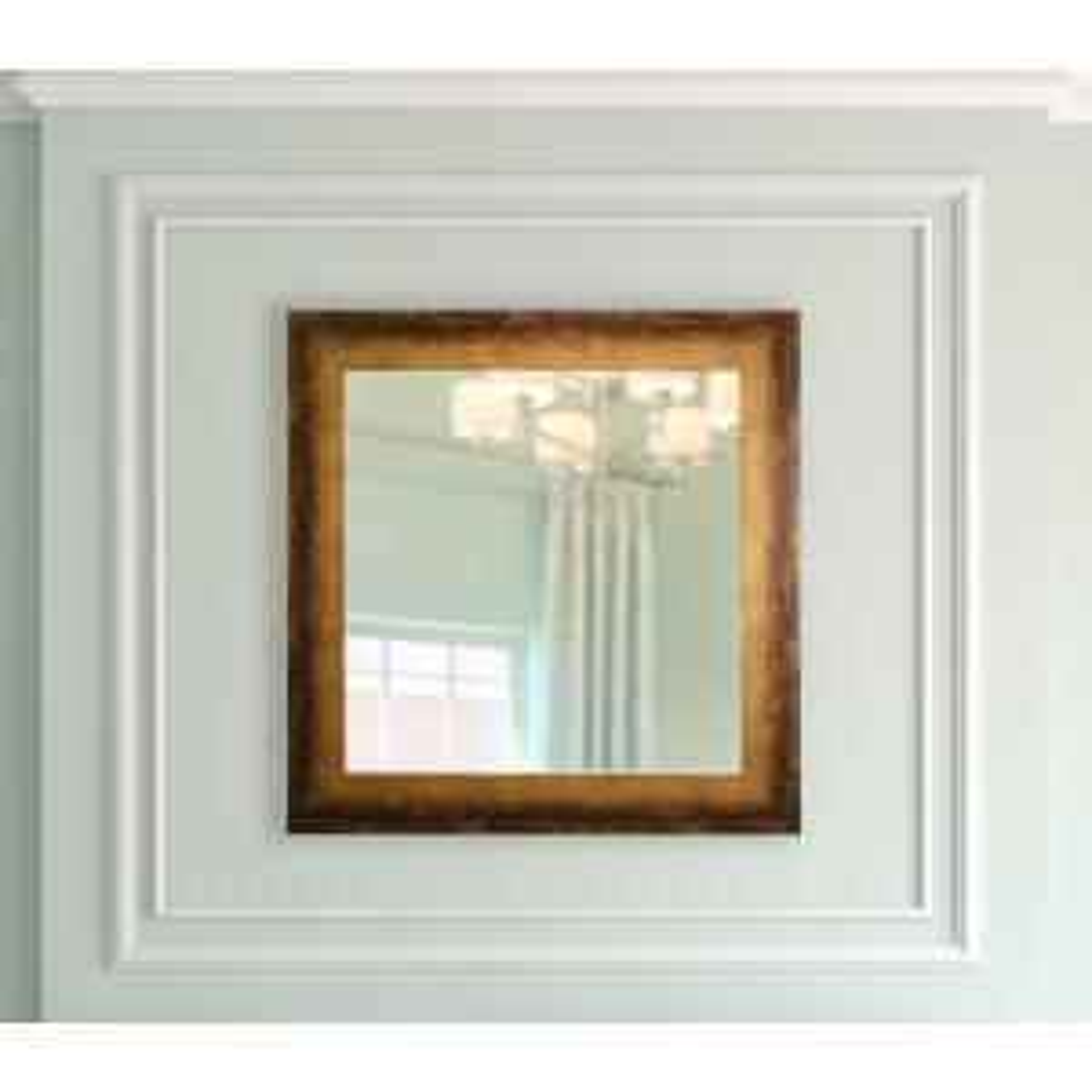29.5 in. x 29.9 in. Tarnished Bronze Square Vanity Mirror