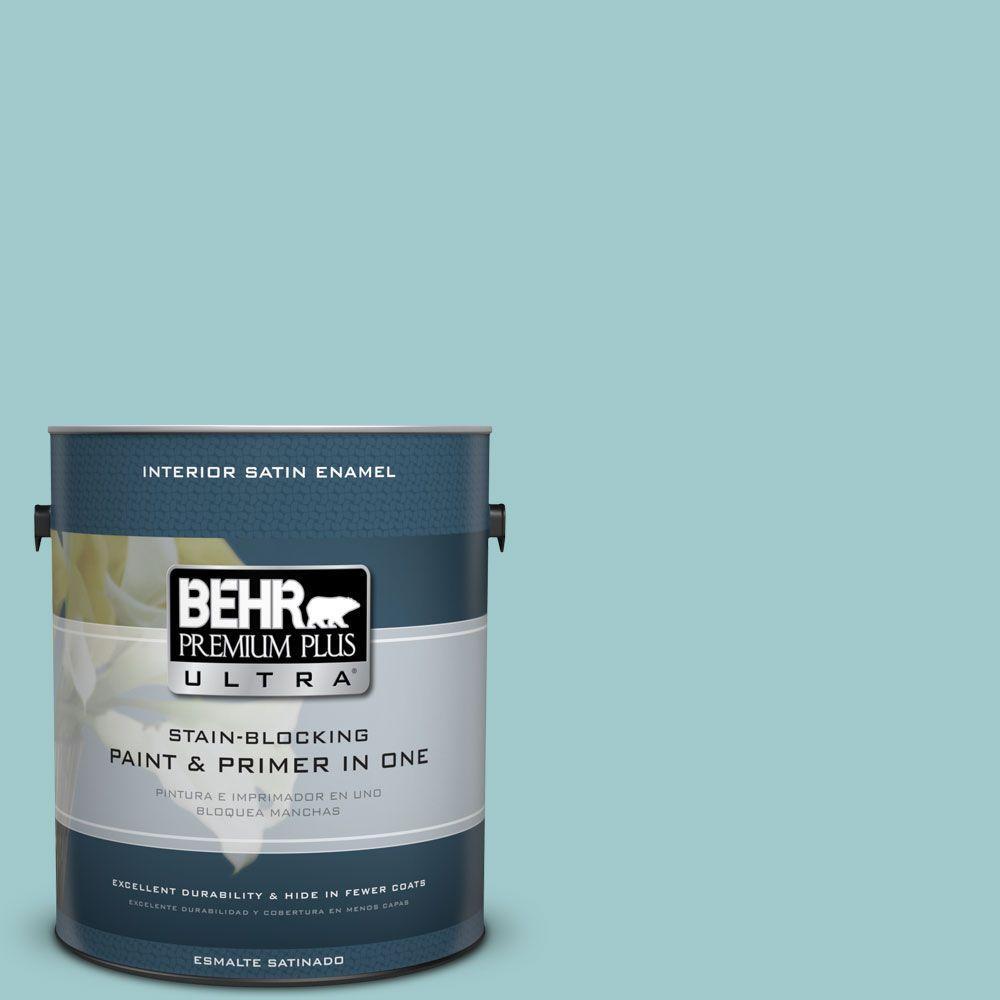 1 gal. #HDC-SP16-08 Blue Bell Satin Enamel Interior Paint