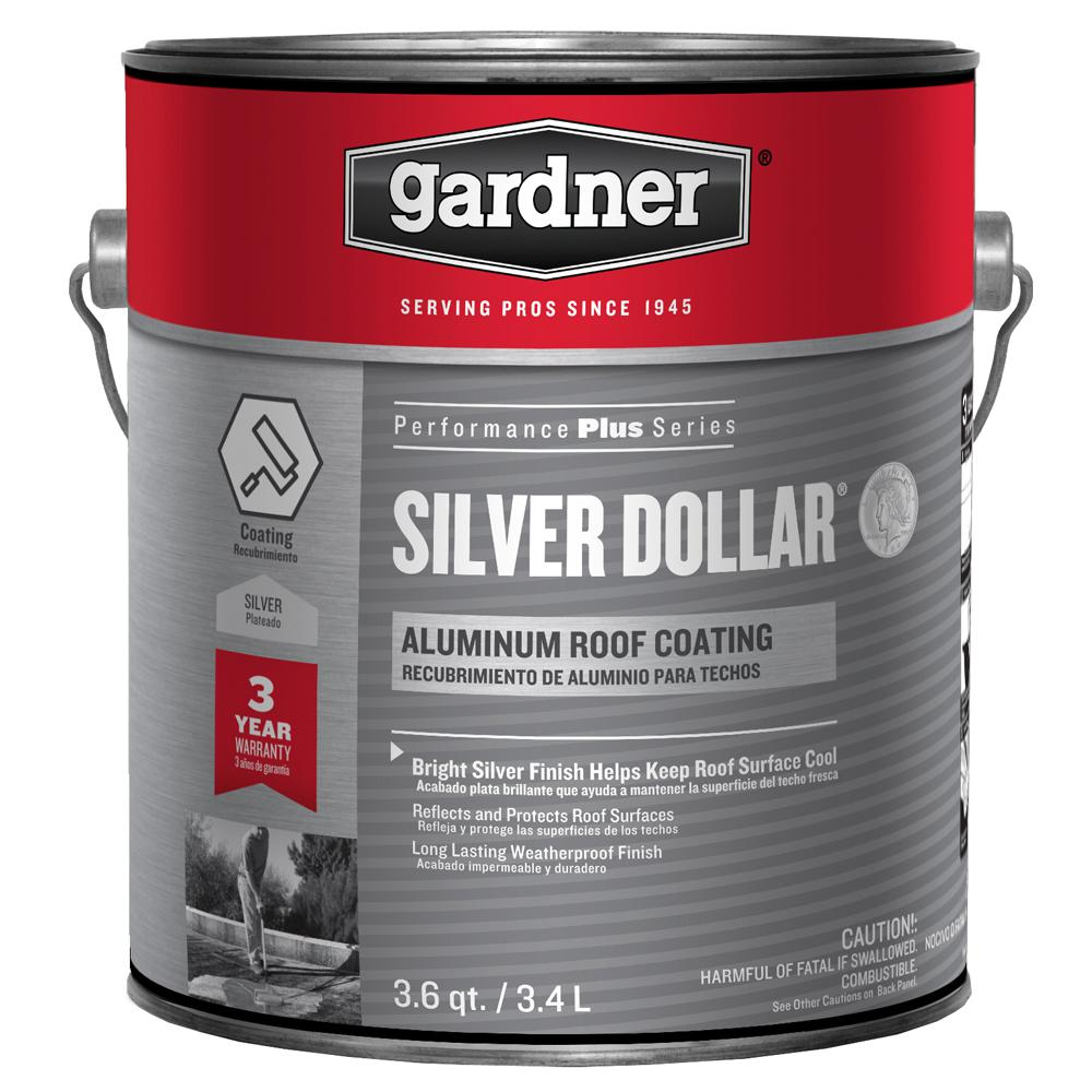 Gardner 3.6 Qt. Silver Dollar Aluminum Roof Coating