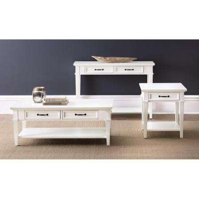 Martin Ivory Built-In Storage Coffee Table