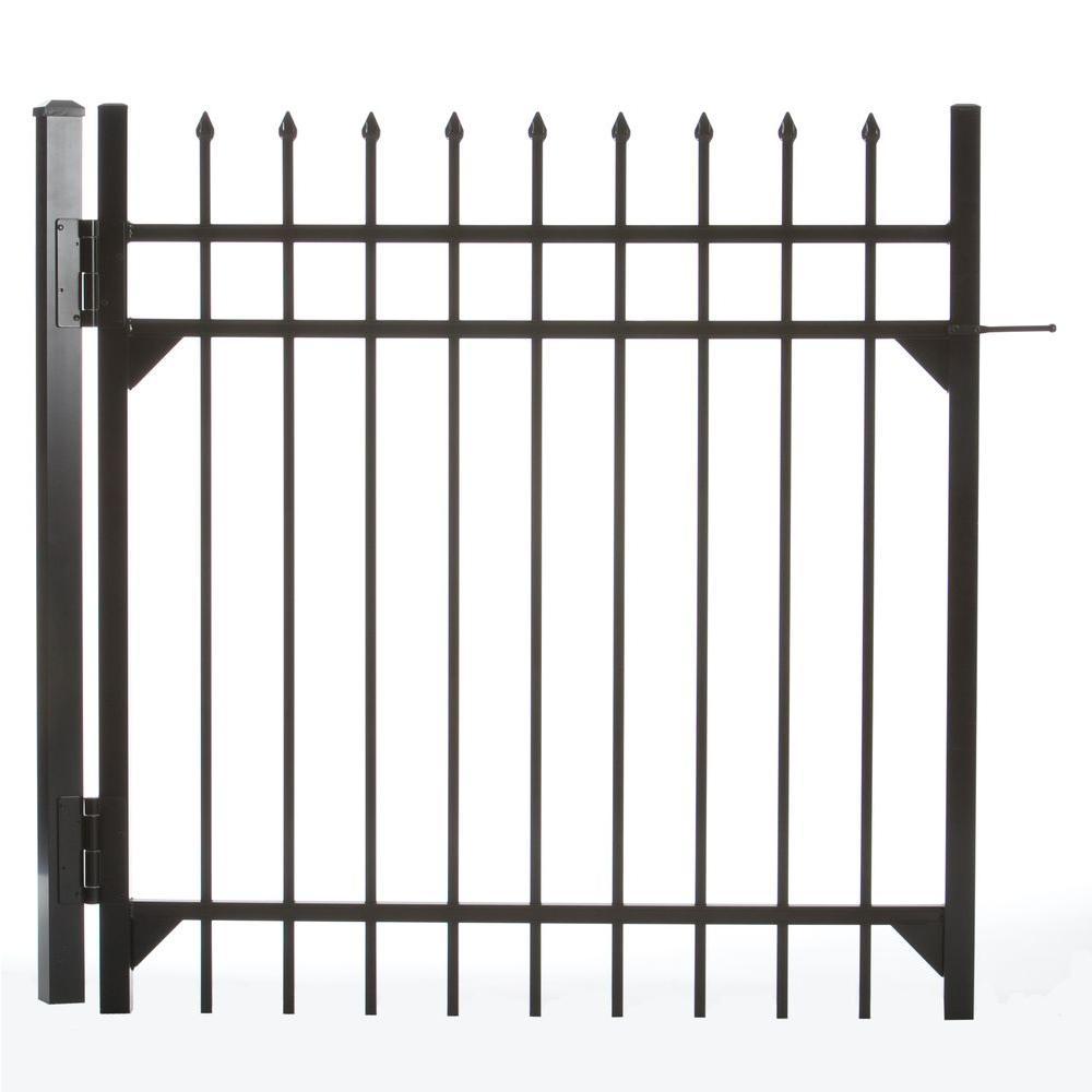 Clinton 4 ft. W x 4 ft. H Aluminum Walk Single Fence Gate