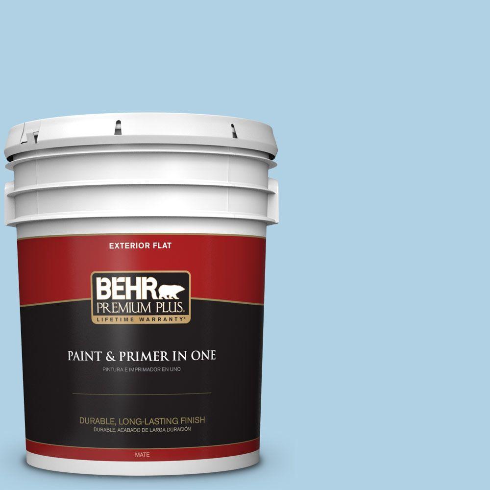 BEHR Premium Plus 5-gal. #560C-3 Holiday Road Flat Exterior Paint