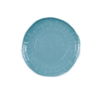 Woven Turqouise Salad Plate (Set of 4)