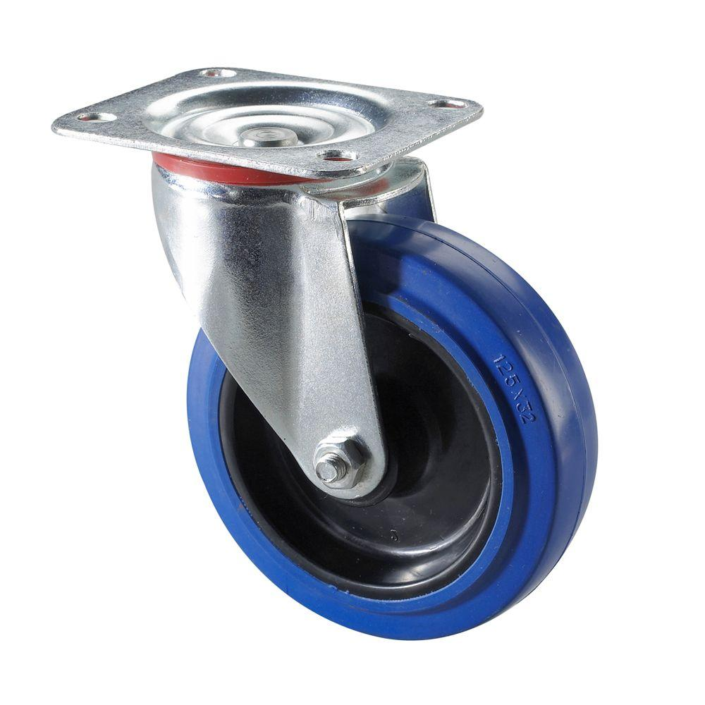 Richelieu Hardware Heavy Duty Blue Wheel Caster 150kg Swivel 5 In.-DISCONTINUED