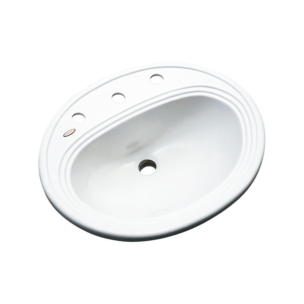 Thermocast Summit Drop In Acrylic Bathroom Sink In White 93800 The Home Depot