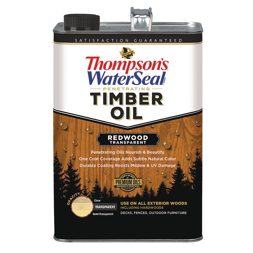 1 gal. Transparent Redwood Penetrating Timber Oil Exterior (4-Pack)