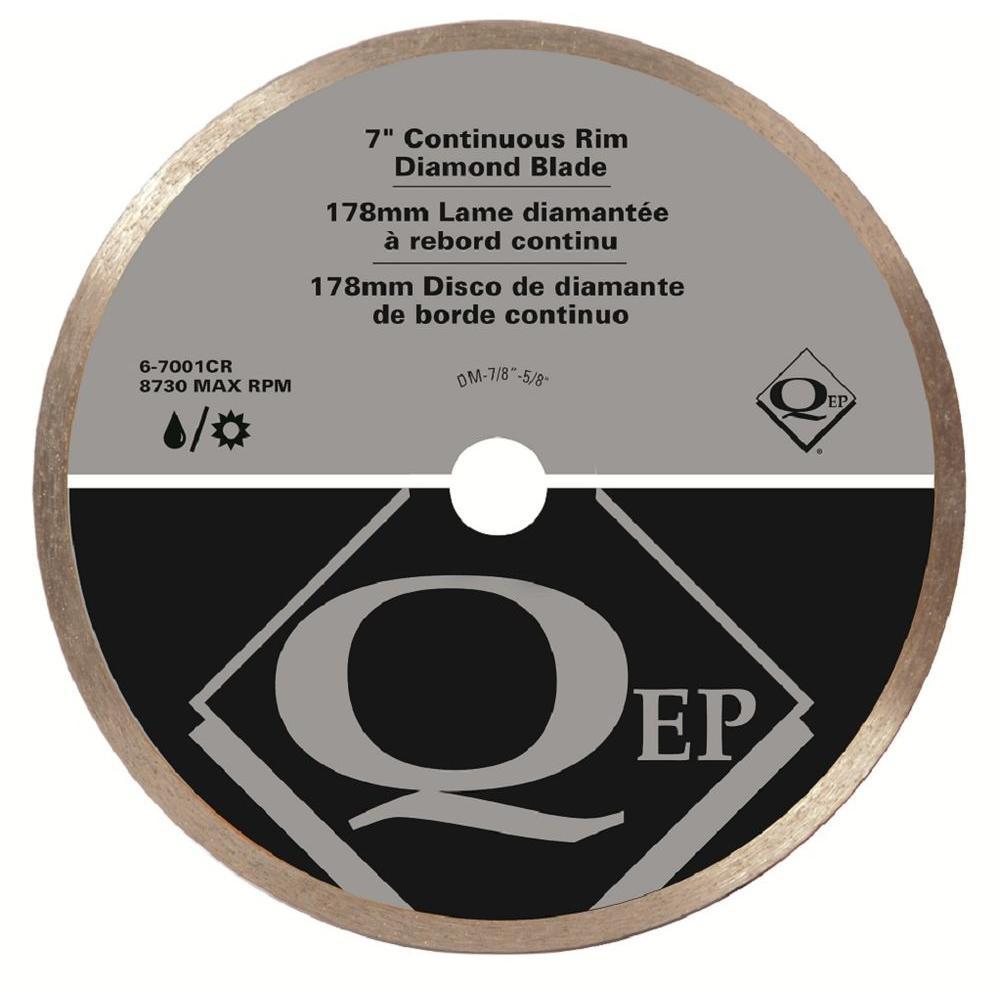 QEP 7 in. Diamond Blade for Wet Tile Saws for Ceramic Tile