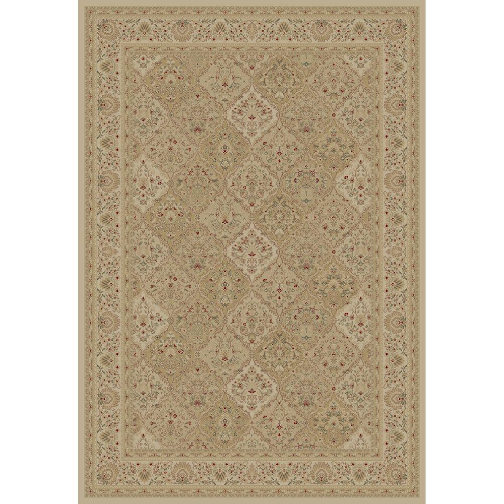 Concord Global Trading Imperial Kashmir Ivory 5 ft. 3 in. x 7 ft. 7 in. Area Rug