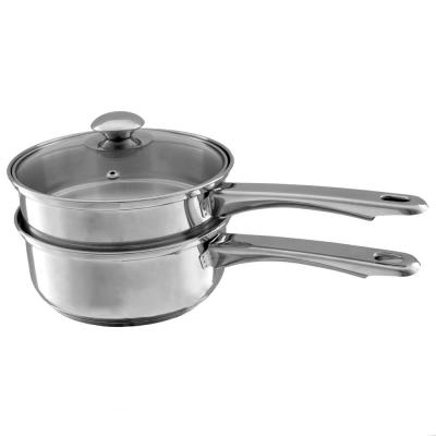 1.5 Qt. Stainless Steel Double Boiler Saucepan with Lid