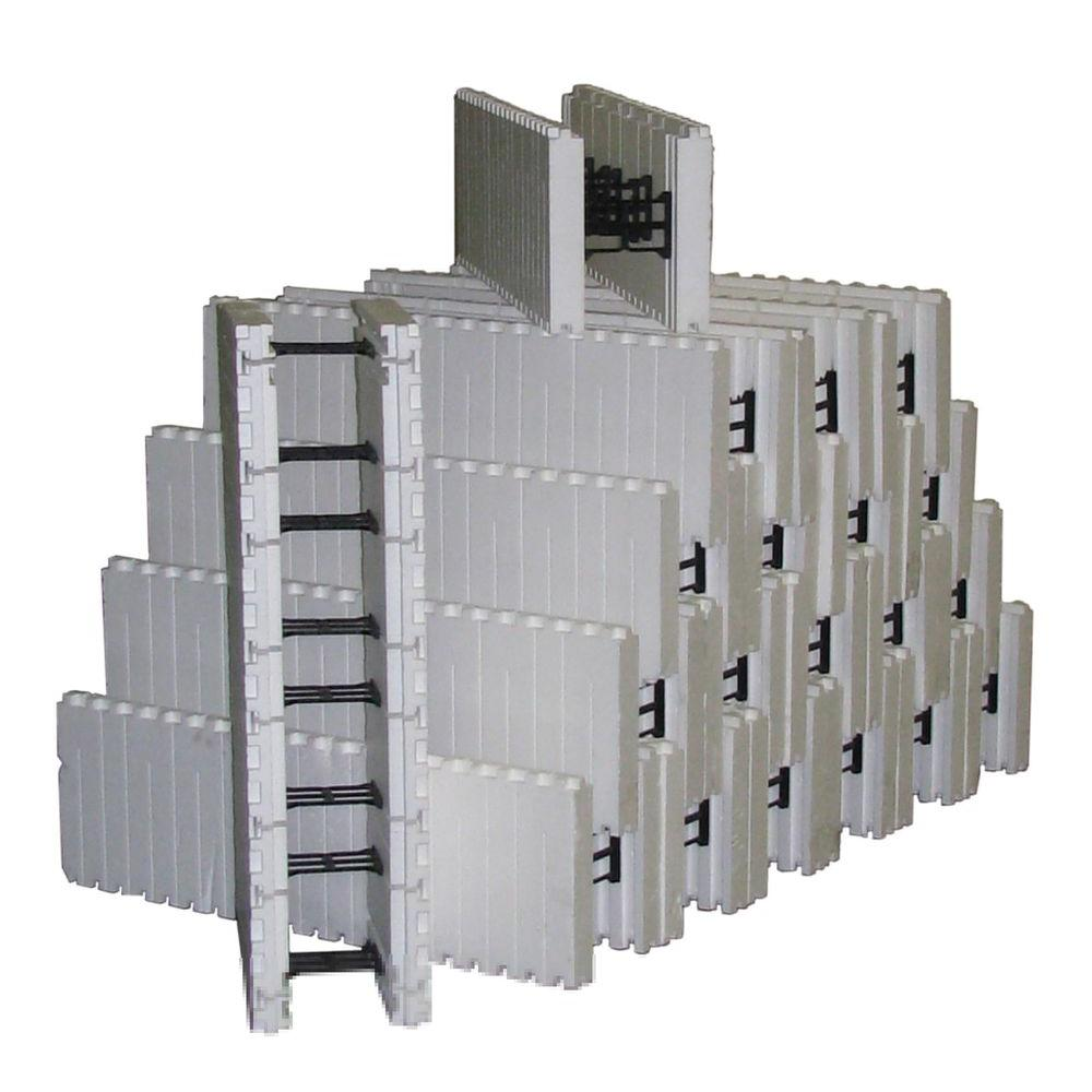 Smartblock 4 2 Lbs 40 In L X 12 5 In H X 10 In W Insulated Concrete Forms Bundle Of 20 12vwf6 The Home Depot