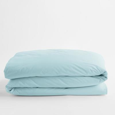Company Cotton Sky Blue Solid Percale Full Duvet Cover