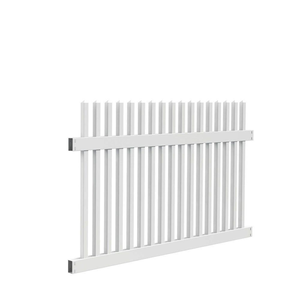 Ottawa Straight 4 ft. H x 6 ft. W White Vinyl Fence Panel Kit